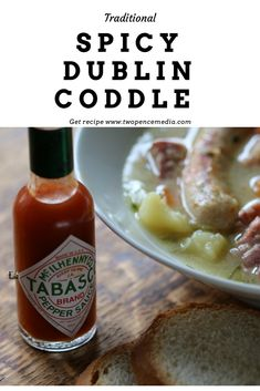 This spicy modern take on a traditional favourite. Coddle is well known dish in Dublin Ireland made with sausage and bacon pieces potatoes and herbs. This is a spiced version click the link to get the recipe. Dublin Coddle Recipe, Pork Stew, Winter Dishes, Leftover Ham, Dublin Ireland, Spicy Recipes, Different Recipes, Hot Sauce Bottles