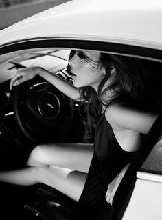 Beautiful girls in beautiful cars. Aston Martin.