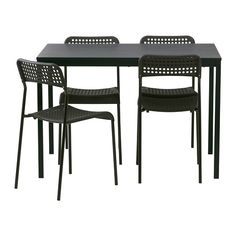 IKEA - TÄRENDÖ/ADDE, Table and 4 chairs, The melamine table top is moisture resistant, stain resistant and easy to keep clean.
