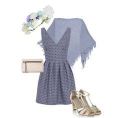 Feeling blue Wolf & Whistle Navy Textured Dress #artdeco #floral #Clutch #heels #shawl #blue #pastel #topshop #wolfandwhistle