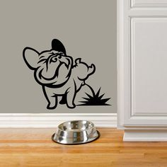 Dog Decal Pissing French Bulldog Vinyl Sticker Decal door PSIAKREW