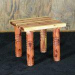 Cedar Post Side Table