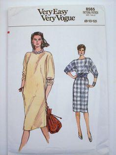 VTG VOGUE CAREER & CASUAL DRESS Misses Sewing Pattern 8565 8 10 12 UNCUT