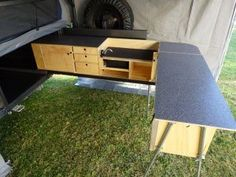 Offering a range of camping kitchens, camper trailer kitchens, drawer systems, and snow peak products. Truck Bed Camping, Truck Tent, Camping Set Up, Jeep Camping, Van Camping, Camping Hacks, Camping Stuff, Ute Canopy, Kangoo Camper