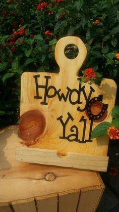 Hey ya'll..Wooden cutting board Tablet phone by shopsolelyforyou