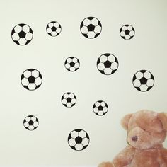 26 Football Wall Stickers / Wall Decals / Window Stickers - by Createworks SK024X