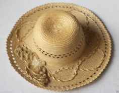 #women hat women straw hat size S (54) natural palm straw made in Guatemala  (024) withing our EBAY store at  http://stores.ebay.com/esquirestore