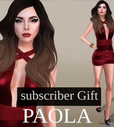 Paola Dress Red Subscriber Gift by LEGENDAIRE