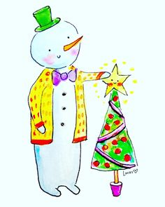 Joe Snowman Holiday Design by Lady Lucas