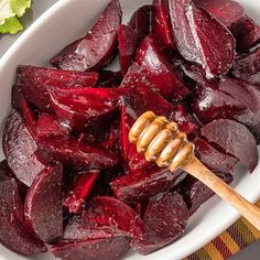 Earthy jewel-hued beets taste like candy when roasted with the sweetness of Billy Bee honey. Beet Recipes, Honey Recipes, Vegetable Recipes, Recipies, Healthy Recipes, Side Dish Recipes, Side Dishes, Riced Veggies, Bath Melts