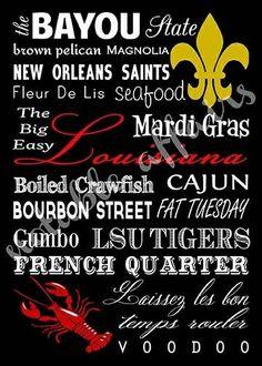 Louisiana...LSU..SAINTS..