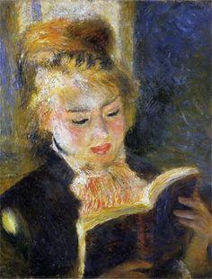"""Woman Reading"" 1875, by Pierre Auguste Renoir"