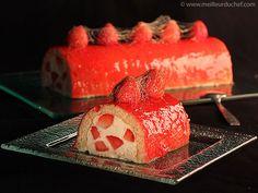 Bûche fraises et champagne - Meilleur du Chef