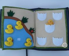 Duck pond quiet book page Diy Quiet Books, Baby Quiet Book, Felt Quiet Books, Book Activities, Toddler Activities, Activity Books, Indoor Activities, Summer Activities, Sewing Crafts