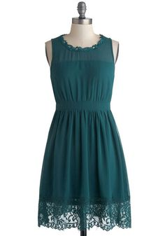 "Teal Me a Story Dress, #ModCloth ""I could see my sister wearing this! Vintage feel, again. GREAT color. I could really see this working with our fair skin and dark hair..but I bet it would look great with any color skin or hair combo. Ooooh,,and finger waves..and nude pumps <3 <3"""