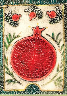 Poster of pomegranate by artinclay2011 on Etsy, $9.90This reminds me of my friend Shanna