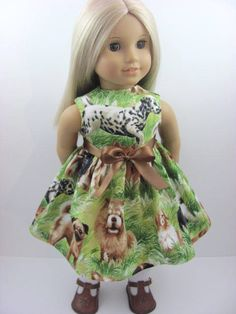Puppies and Dogs Doll Dress for the American Girl Doll, $12.00