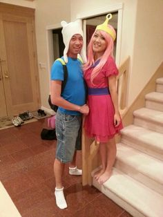 Halloween couples costume -- finn and princess bubblegum from adventure time