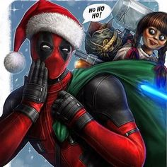 Deadpool Merry Christmas by SpiderWee Deadpool Fan Art, Deadpool Love, Deadpool Pikachu, Deadpool Funny, Deadpool And Spiderman, Marvel Funny, Deadpool Pics, Funny Avengers, Marvel Comics