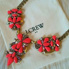 J.Crew Necklace Bright pink statement necklace.  Comes with dust bag. Brand new with tags. J. Crew Jewelry Necklaces