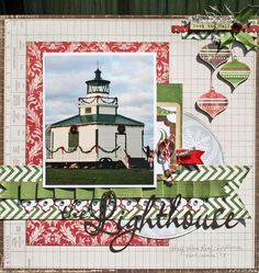 They Lighthouse Layout from Very Merry Christmas Collection. #echoparkpaper