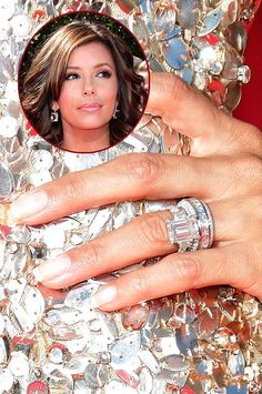 While they're since divorced - Eva Longoria was sporting a striking engagement ring while it lasted