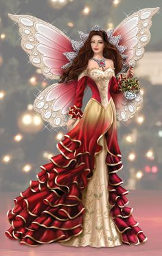 Bring a mystical touch of rich holiday splendor to your home this Christmas with Nene Thomas' Spirit of Love Figurine.