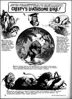Creepy's Loathsome Lore by Frank Frazetta