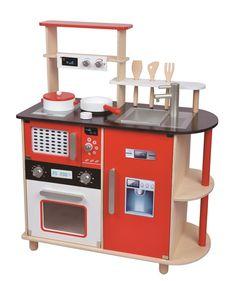 Drewniana kuchnia dla małej kucharki lub kucharza firmy #Lelin