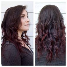 Dark red violet ombré hair | Immense Creations Salon | immensecreations.com