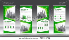 Roll up banner stand template design, Green banner layout, advertisement, polygon background, pull up, vector, business flyer, display, x-banner, flag-banner, infographics, presentation, poster