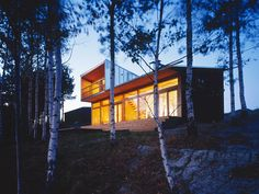 My dream home, Villa Linnanmaki, in Sonerniemi, Finland. Huttunen-Lipasti-Pakkanen Arkkitehdit/Architects.     Situated on a lake, surrounded by birch trees, and a detached nearby sauna. When can I move in?