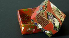 These instructions will show you how to fold a traditional origami box (also known as a masu box). It's quite easy to fold so click here to learn how.
