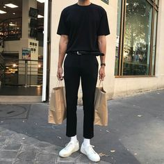Stylish Mens Outfits, Casual Outfits, Simple Outfits, Air Force 1, Nike Air Force, Look Fashion, Fashion Outfits, Guy Fashion, Winter Fashion