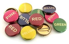 24k gold full color buttons