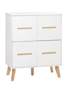 Lipasto IBSTED 2+2 laatikkoa valk/l.väri | JYSK