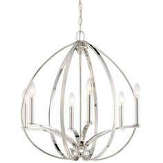 Minka Lavery 4986-613 6 Light One Tier Chandelier from the Tilbury Collection