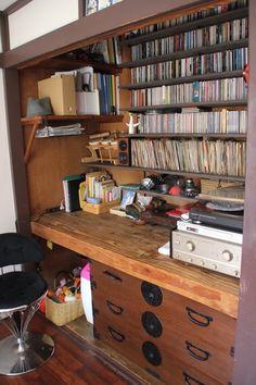 東京の台所 <129>築50年の文化住宅が教えてくれた暮らしの音 写真 押入れは扉を外し、壁に棚受けレールを取り付けた