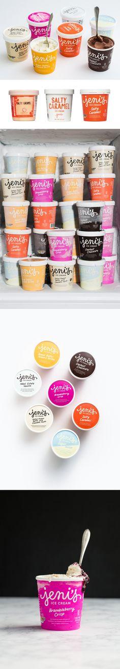 I Scream, You Scream, We All Scream For Jeni's Splendid Ice Cream and Their New Packaging — The Dieline | Packaging & Branding Design & Innovation