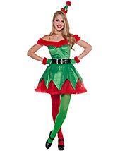 Sexy Little Helper Women's Costume - elf-costumes - christmas