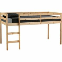 Buy Fun Mid Sleeper Single Bed Frame - Natural Pine at Argos.co.uk - Your Online Shop for Children's beds, Children's beds.