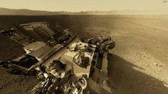 NASA, curiosidad, mars, montaña