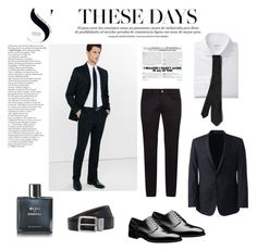 """elegant"" by udggv24 on Polyvore featuring Dolce&Gabbana, Express, BOSS Hugo Boss, Lands' End, Chanel, Valentino, men's fashion and menswear"