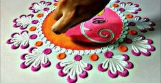 this is a beautiful and innovative peacock rangoli designs using easy tools Easy Rangoli Designs Diwali, Rangoli Simple, Rangoli Designs Latest, Rangoli Designs Flower, Free Hand Rangoli Design, Rangoli Patterns, Rangoli Ideas, Rangoli Designs With Dots, Rangoli Designs Images