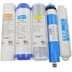 Yeni Su Arıtma 5 Sahne Filtre Kartuşu 75 gpd RO Membran Ters Osmoz Sistemi Için Su Filtreleri Ev