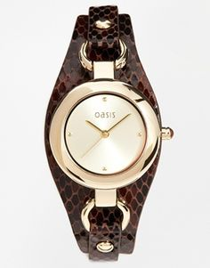 Oasis Watch With Snake Effect Strap