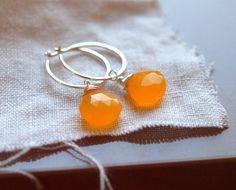 Mango heart briolette dangle earrings detacheable in by sianykitty, $36.00