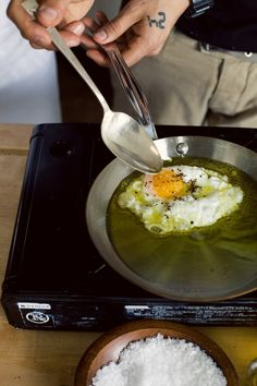 How to Poach an Egg in Olive Oil--poached eggs are everything to me, so much flavor from the yolk!!!!!!! yummers!
