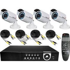 H.264 4 Channel LAN CCTV DVR Pack SONY CCD 420TVL IR Security Camera