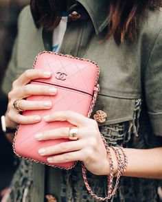 Bag: tumblr mini pink chanel chanel ring gold ring gold jewelry jewelry